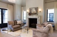 Cream and Brown Living Rooms - Transitional - Living Room