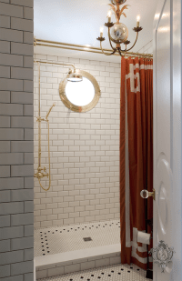 Greek Key Tiles - bathroom - The Renovated Home