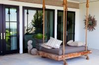 Covered Patio with Swing Bed - Transitional - Deck/patio