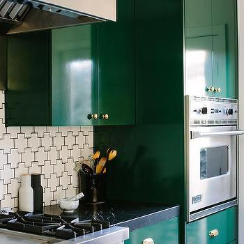 Emerald Green Kitchen Cabinets Design Ideas