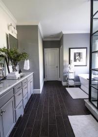 Dark Wood Like Bathroom Tiles Design Ideas