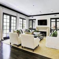 Black Mirrored Living Room Cabinets Design Ideas