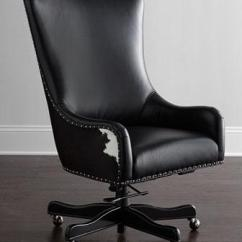 Black Leather Desk Chairs How Much Does It Cost To Recane A Chair Dougherty Hairhide Executive Office In