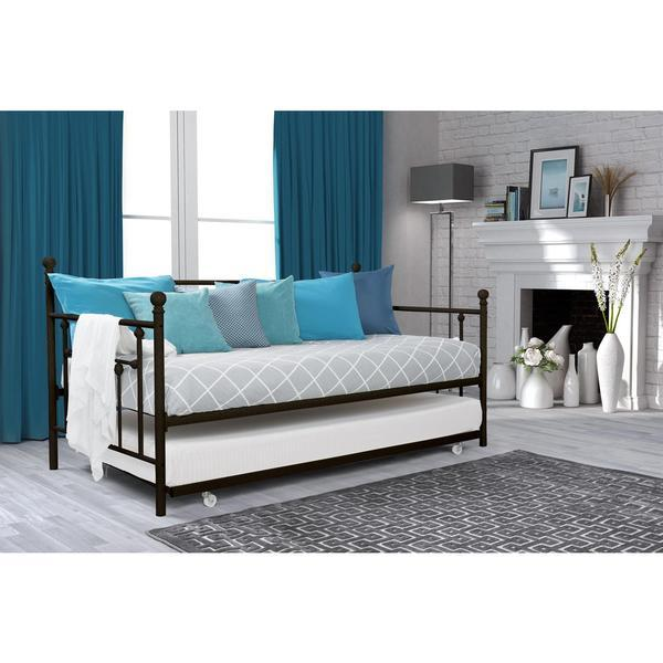Turquoise Wallpaper For Girls Bedroom Dhp Manila Daybed And Trundle In Black
