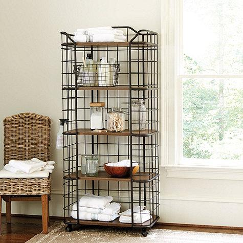 Estes Tall Bakers Rack in Black and Brown