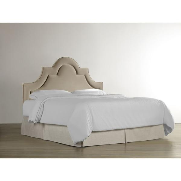 nevelle upholstered headboard in taupe