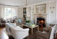French Settee - French - living room - Benjamin Moore ...