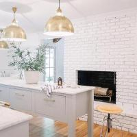 Gray and Gold Kitchen Design - Transitional - Kitchen
