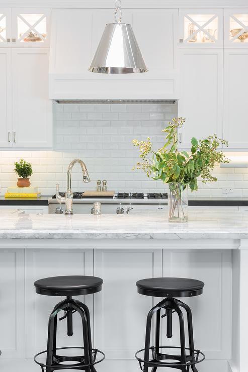 Super White Quartzite Countertop  Transitional  Kitchen