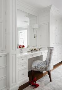 Built In Dressing Table with Lucite Vanity Chair ...
