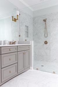 White Porcelain Marble Like Bathroom Tiles - Contemporary ...
