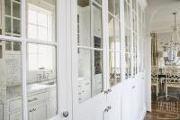 Antiqued Mirrored Pantry Cabinets - Transitional - Kitchen
