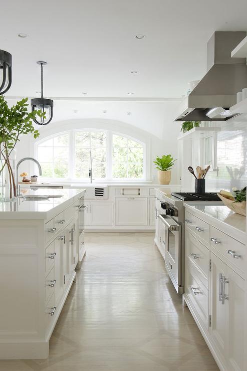 Arched Kitchen Windows Over Sink  Transitional  Kitchen