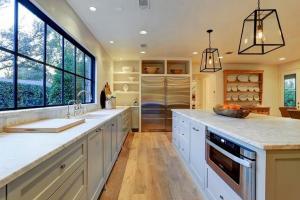 Kitchen Island with Restoration Hardware Modern Filament ...
