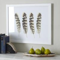 Four Feathers Wall Art in Natural