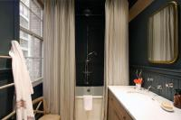 Country Bathroom with Black Beadboard - Country - Bathroom