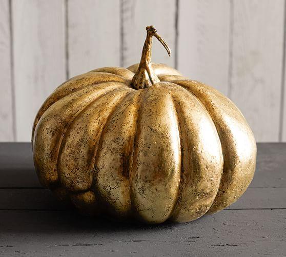 Fall Wallpaper With Pumpkins Metallic Gold Pumpkins