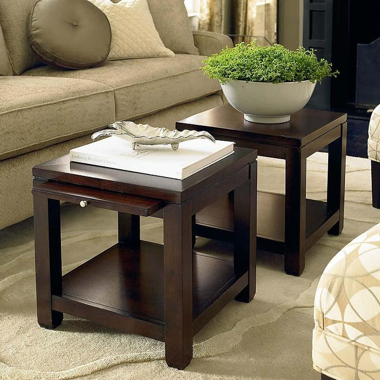 Bunching Cube Coffee Table With Satin Nickel Hardware In