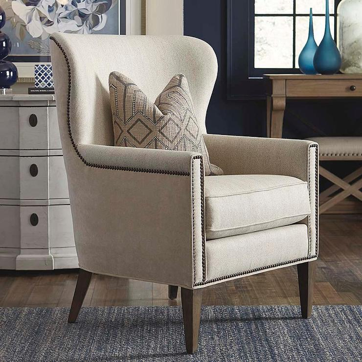 accent wingback chairs desk chair lumbar support victoria in natural