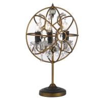 Foucaults Orb Crystal Iron 6-light Table Lamp in Gold