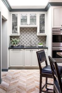 Black and White Mosaic Kitchen Backsplash Tiles ...