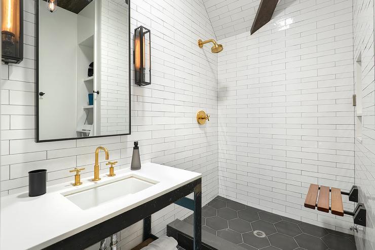 Teak Sink Contemporary Bathroom Toronto Interior