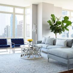 Blue Accent Chairs For Living Room Ergonomic Office Canada Reviews Gray Sofa With Chaise Lounge And Velvet