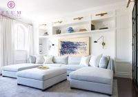 Gray Blue Sectional with Two Chaise Lounges - Contemporary ...