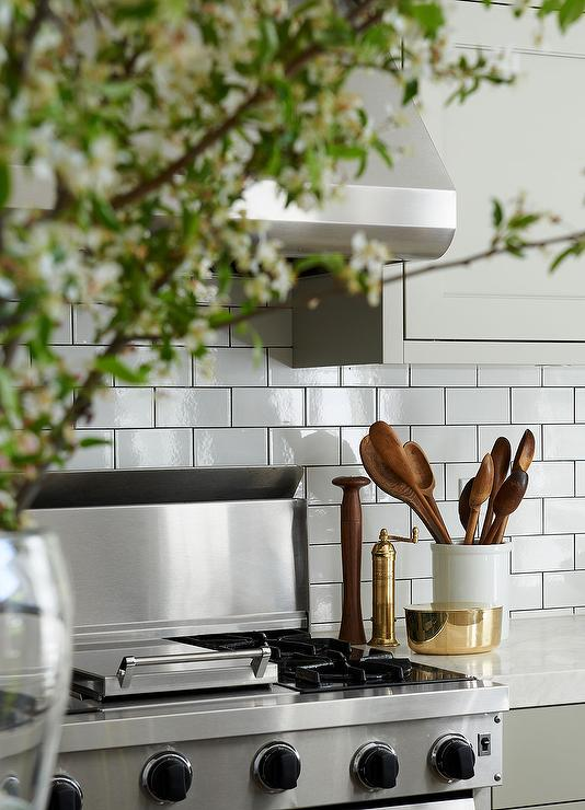subway tile for kitchen cupboard protectors with grey grout design ideas beautiful features gray shaker cabinets paired white marble countertops and a tiled backsplash