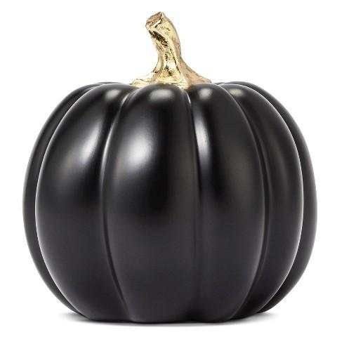 Free Fall Pumpkin Wallpaper Decorative Figurine Threshold Polyresin Pumpkin In Black