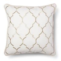 Threshold Gold Embroidered Fret Decorative Pillow