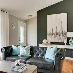 Living Rooms With Black Leather Sofas My Room London Sofa Design Ideas Chesterfield Turquoise Pillows