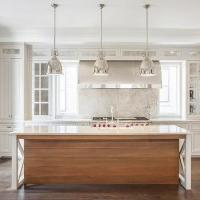 Shell Chandeliers over Island - Cottage - Kitchen