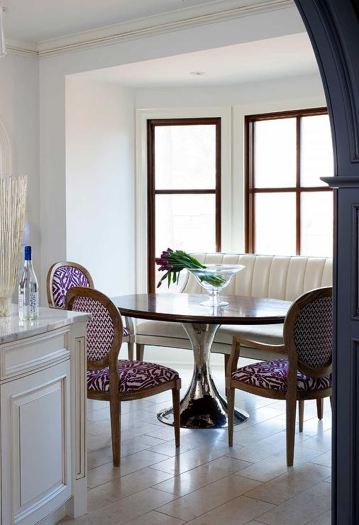 Purple Upholstered Dining Room Chairs