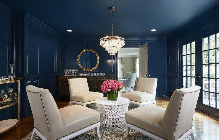 navy blue and black living room ideas small idea uk paneled design
