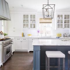 Blue Kitchen Island Design Template Painted Van Deusen Transitional
