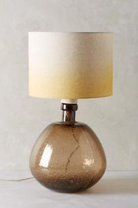 Faceted Mercury Glass Table Lamp