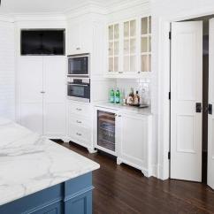 Bi Fold Kitchen Cabinet Doors Grommet Curtains Over Flatscreen Tv Niche - Transitional ...