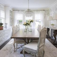 Cane Back Dining Room Chairs Unfinished Desk Chair French With Built In China Cabinet Transitional White Walnut Stained Trestle Table