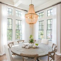 Hanging Chair Restoration Hardware Beach Folding Round Reclaimed Wood Dining Table With French X Back Chairs And White Slipper ...