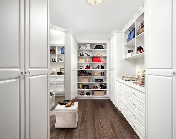 White Wooden Wardrobe Drawers