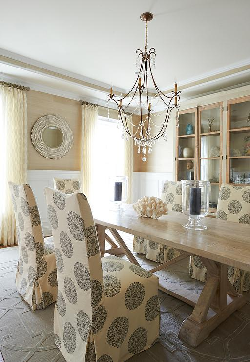 Cream and Gold Dining Room  Cottage  Dining Room