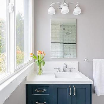 Navy Blue Bathroom Vanity Design Ideas