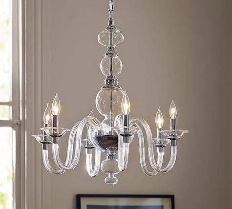 Pottery Barn N Glass Chandelier View Full Size