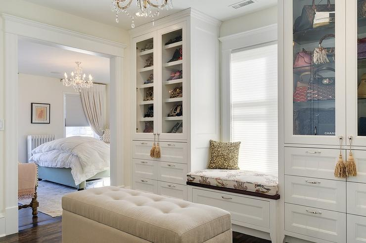 Shoe Cabinets with Glass Doors  Traditional  Closet