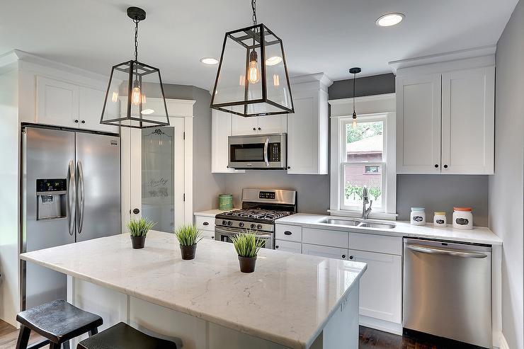 Corner Frosted Glass Pantry Door Design Ideas