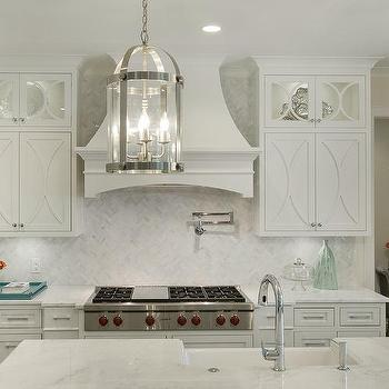 off white kitchen cabinets purple rugs design ideas with marble countertops