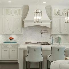White Kitchen Backsplash Blue Wall Clocks Off Cabinets Design Ideas Herringbone With