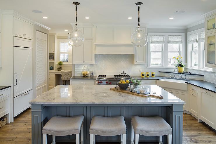 Blue and Yellow Kitchen Design  Cottage  Kitchen