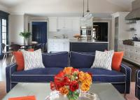 Orange Blue Living Room